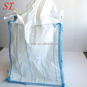High strength 1ton 1.5ton 2ton FIBC big pp flexible bulk container jumbo polypropylene bag /sack with liner for cement, grain