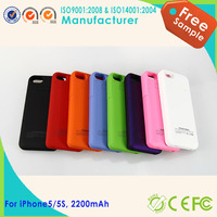 New Item Full Protect 2200mAh for iPhone 5 Case Battery Rechargeable External Power Pack