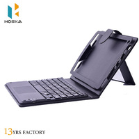 High quality leather case for ipad pro 10.5 With Removable Bluetooth Keyboard