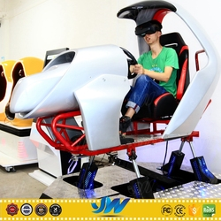 2016 Exciting electronic game machine racing car simulator using VR helmet
