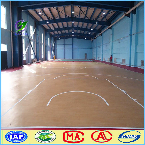 Protable anthletic PVC basketball flooring roll in stock