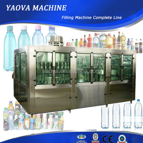 3-in-1 Complete automatic plastic bottle pure water filling and sealing machine