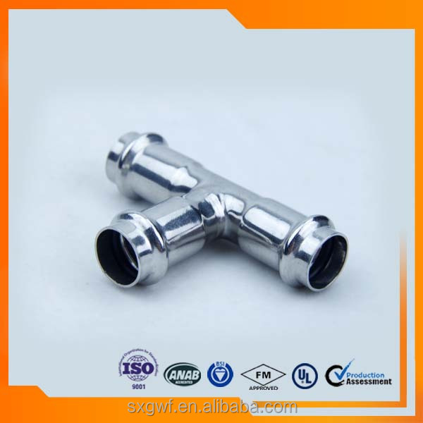 DIN Galvanized pipe fitting stainless steel equal TEE