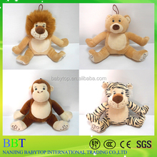 2016 Customized high quality plush toys, 20cm safe material AZO/EN71 animal plush toy