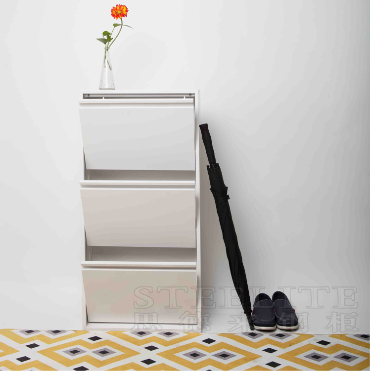 Amazing Korea Style Home Furniture Metal Shoe Rack Shoe Cabinet Drawer Cabinet