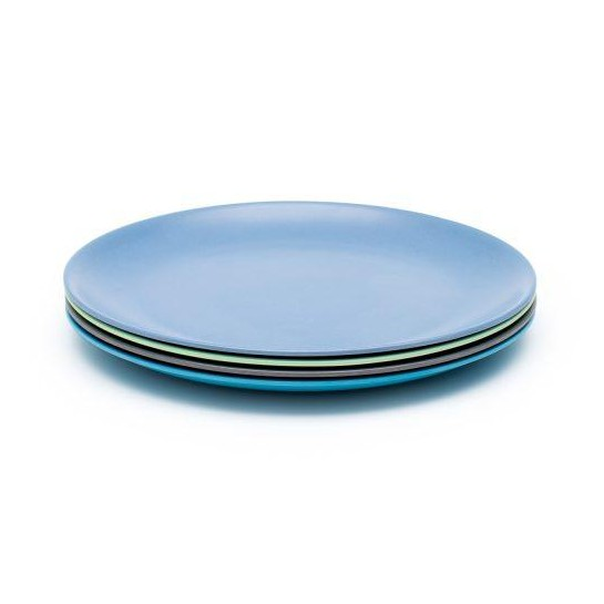 MBF <strong>Natural</strong> Reusable Bamboo Fiber Wholesale Plates with Different Colors