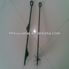 powder coated screw earth anchor ground anchor for fence