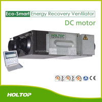 Mechanical fresh air device ceiling mounted heat recovery ventilator