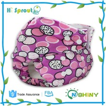 Nice Design Purple Color Baby Reusable Cloth Diaper