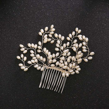 AP40001 New design wedding hair accessories bridal hair straightener comb with pearl