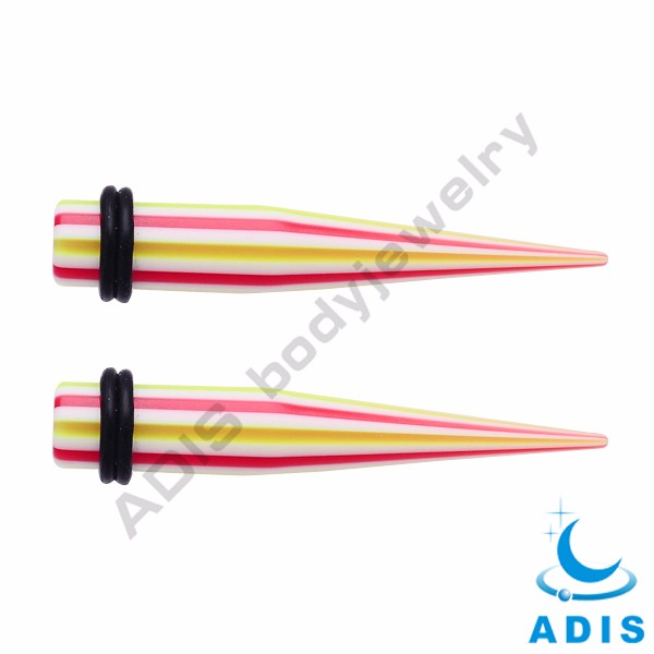 Colorful jewelry wholesale acrylic ear tapers expander for women