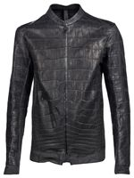 Motorcycle Leather Jacket In Crocodile skin(Genuine Leather Jackets)