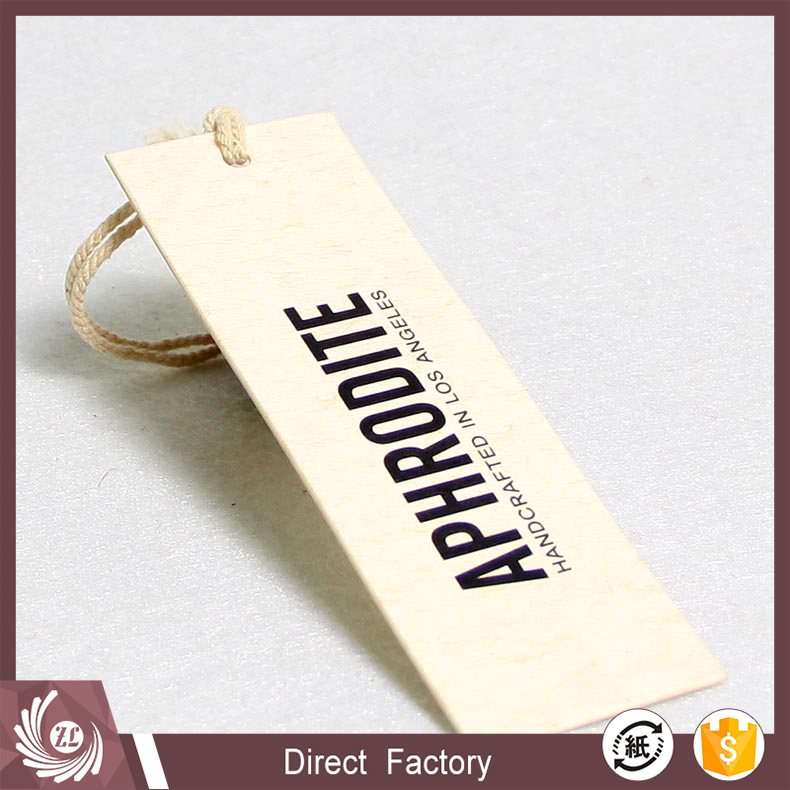Hot sale custom high quality special paper garment hang tags for clothing/shoe