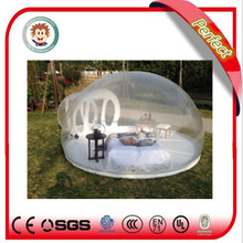 Attractive and cheap camping inflatable clear tent, clear inflatable lawn tent