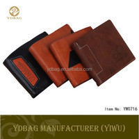 2015 new design man leather wallet