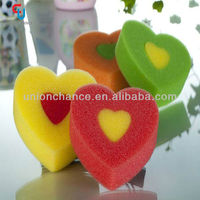 Heart Shape Baby Bath Sponge