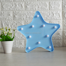 3D Light Star Shaped LED plastic Sign-Lighted Marquee STAR Sign Wall Decor Battery operated