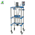 20l 50l 100l 200l Laboratory Jacketed Batch Glass Reactor With Rectification Column System
