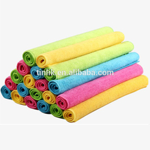 Pure Color Super Absorbent,Lint-free Microfiber Cleaning Cloth Dish Towel Household Towel