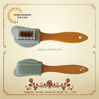 Hot selling new design plastic suede rubber&nubuck shoe cleaning brush