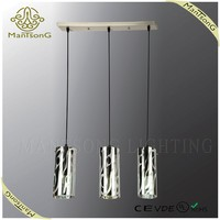 2016 Hot sale home use modern lighting glass hanging pendant light fitting