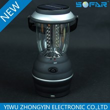 USB charge Solar 36 LED Lantern Outdoor Bright Rechargeable Camping Light
