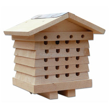 outdoor garden use wooden bee house insect house