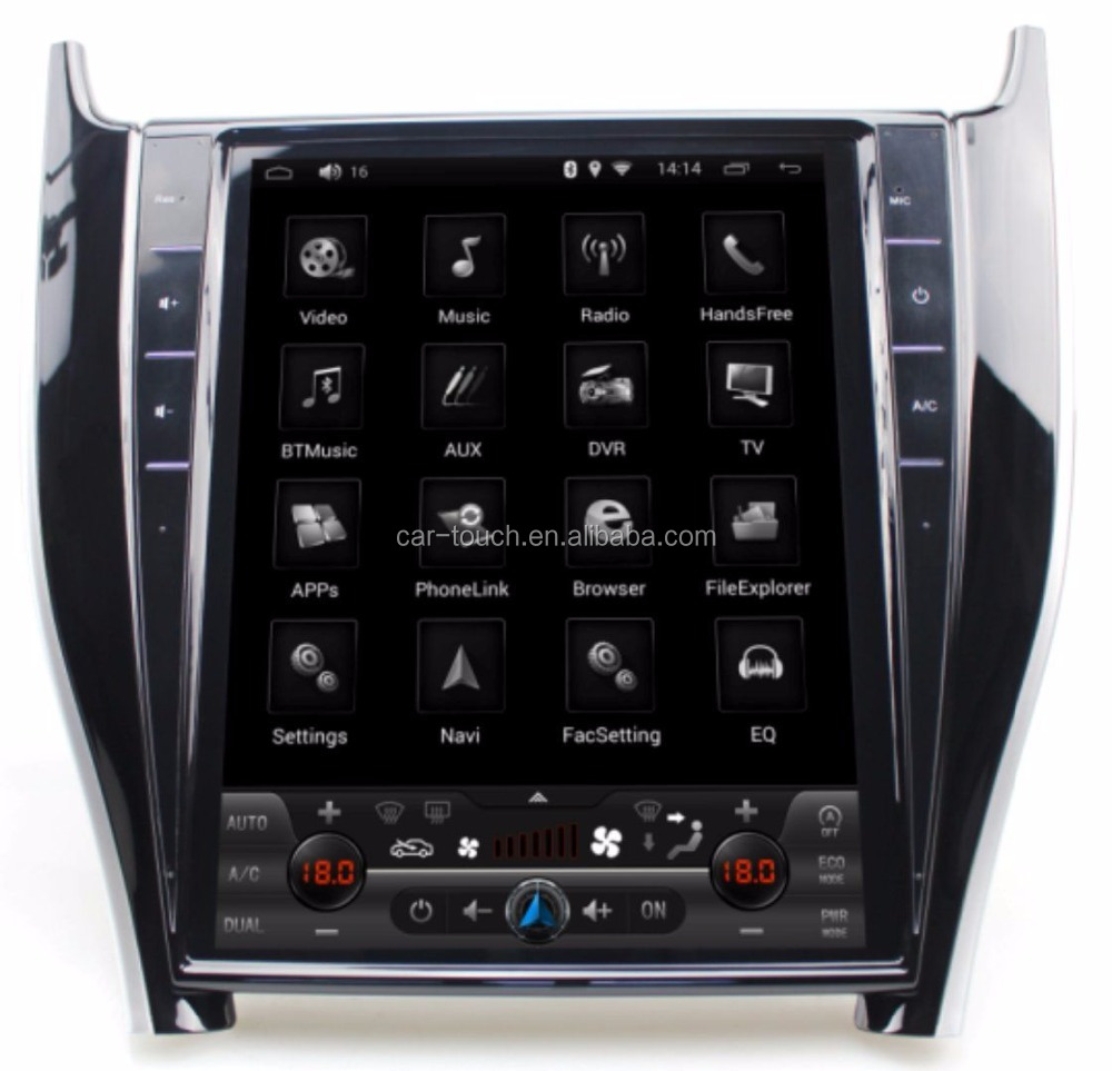 Tesla style Vertical Big Screen Android 6.0 Car DVD Stereo Player With GPS for TOYOTA HARRIER