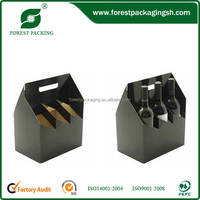 New style China Supplier cardboard leather wine carrier box