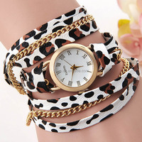 High Quality Newest design Colorful Ladies Leopard Pattern custom Watch