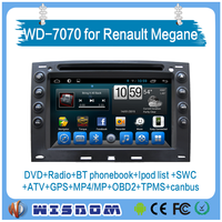 2016 Factory touch screen car stereo for renault megane car radio cd mp3 andriod car dvd player 2 din 7'' support bluetooth