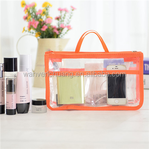 Chinese wholesale clear pvc Make Up Toiletry Bag