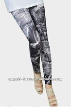 Wholesale newspaper printed seamless leggings tights for women