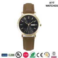Latest fashion gold case girl watch best gift set