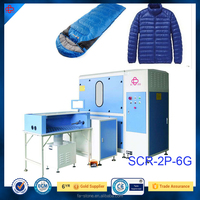 Full Automatic Down Jacket/ Quilt Filling Machinery skype:larissaluo