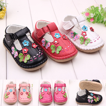 High quality TPR sole leather kids toddler shoes for girls