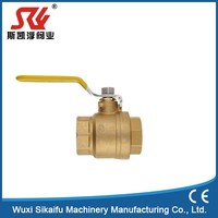 New style brass gas compression ball valve hot selling