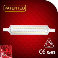 linear glass dimmable led R7S 118mm battery powered led strip light