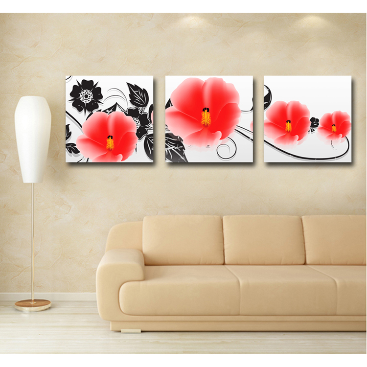 Home goods butterfly modern flower canvas oil painting