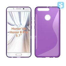 Soft TPU S Line Cell Phone Back Cover Case for HUAWEI Honor V9 / 8 Pro