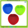 Multi-colors heart shaped reusable silicone egg cup cake mouldcake mold pans