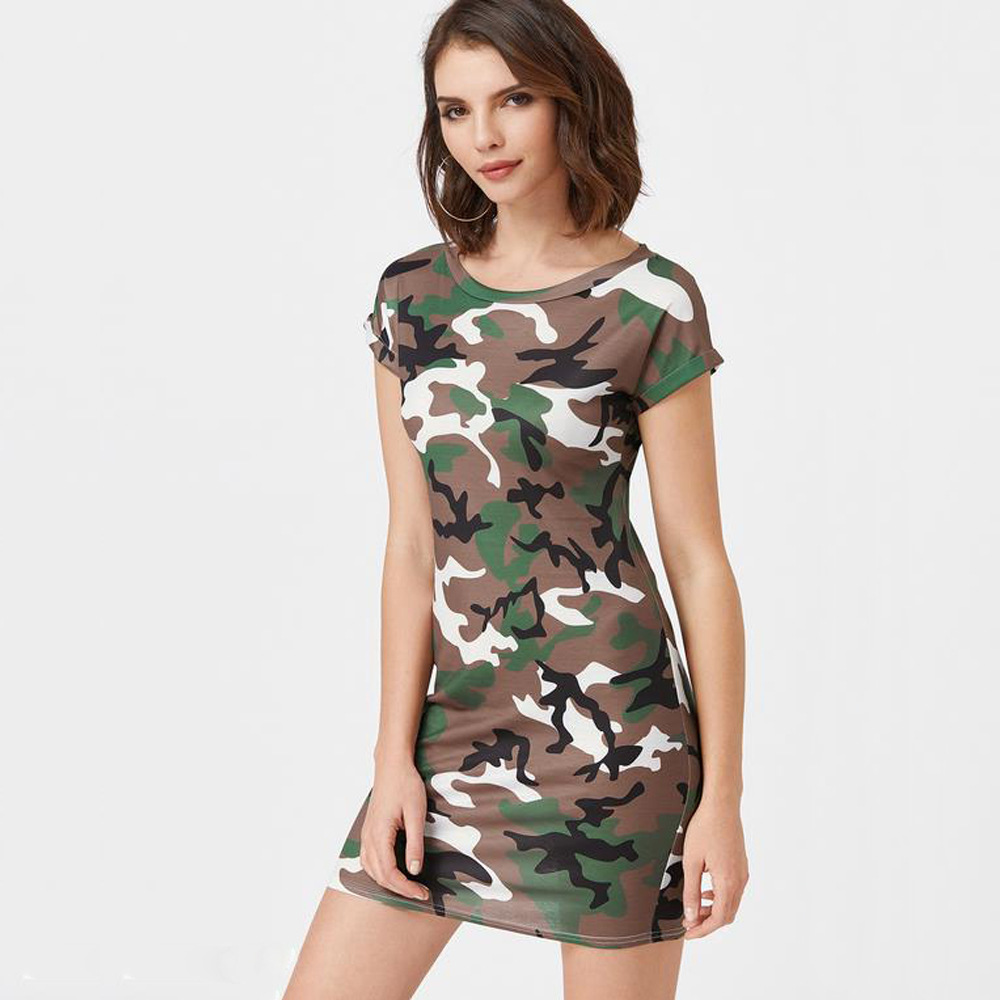 Wholesale Summer Fashion Women Camouflage Tank Top Dress