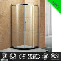 Corner stainless steel sliding glass shower door TA-313
