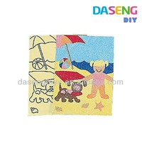 promotional toy gift sand art, arts and crafts for kids, paper crafts for kids