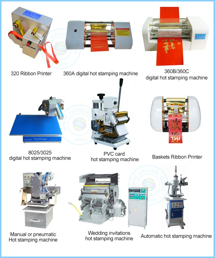 Computer directly print digital hot foil 360A bronzing machine