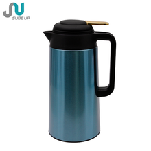 Chinese supplier LFGB double wall stainless steel vacuum glass hot water thermos jug set