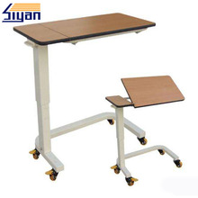 wooden tops patient used hospital bedside tables