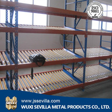 Heavy duty pallet roller shelf racking