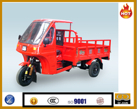 Colombia market hree wheel tricycle motorized heavy loading motocarro tricycle closed cabin tricycle cargo