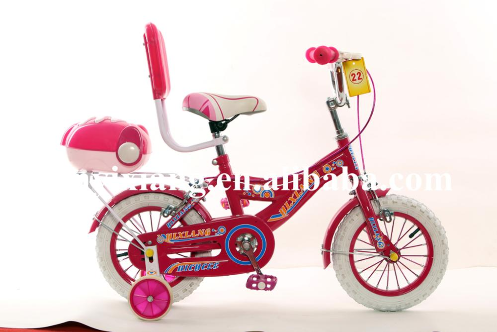 2017 new style children bike with carrier and tool box girls beautiful bicycle baby gift